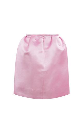 Lavender Pink Column Mini Skirt by ESME VIE for Preorder on Moda Operandi