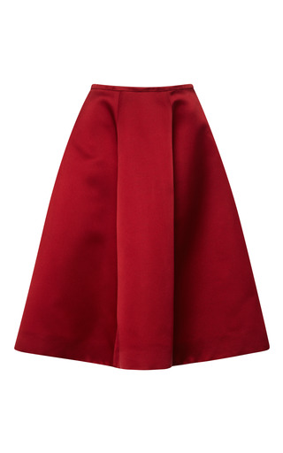 Medium esme vie red cardinal red panel gore midi skirt