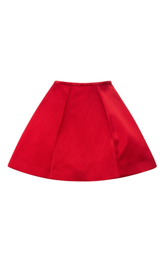 Medium esme vie red persian red panel gore mini skirt