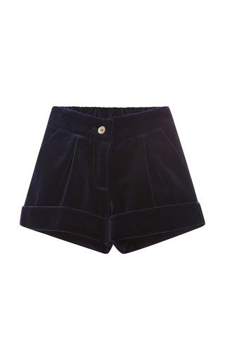 Medium oscar de la renta navy velvet shorts