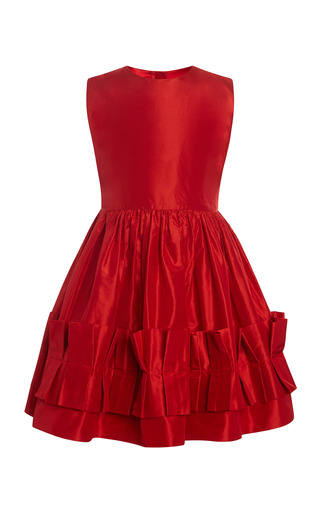 Medium oscar de la renta red taffeta party dress