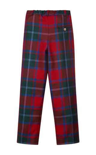Plaid Wool Classic Pants by OSCAR DE LA RENTA for Preorder on Moda Operandi