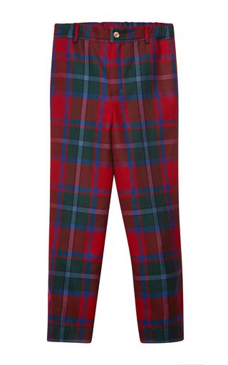 Medium oscar de la renta navy plaid wool classic pants