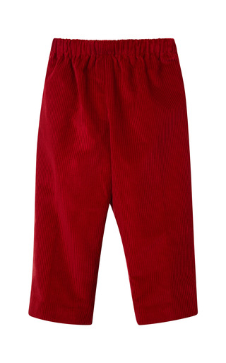 Medium oscar de la renta red endine classic pants 3