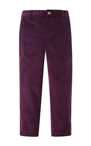 Medium oscar de la renta purple endine classic pants