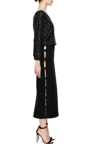 Skirt With Bows by KALMANOVICH for Preorder on Moda Operandi