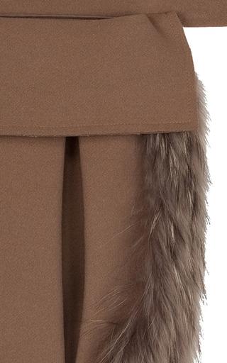 Camel Utility Belt With Fur Trim by RUBAN for Preorder on Moda Operandi