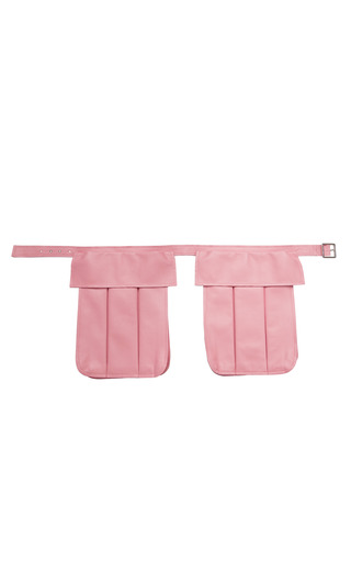 Medium ruban pink pink leather utility belt