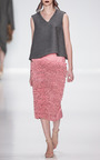 Pink Ruched Leather Skirt by RUBAN for Preorder on Moda Operandi