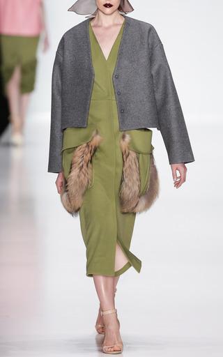 Short Grey Wool Jacket by RUBAN for Preorder on Moda Operandi