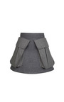 Grey Wool Skirt by RUBAN for Preorder on Moda Operandi