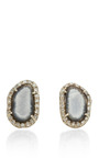 One Of A Kind Light Baby Geode And Diamond Stud Earrings by KIMBERLY MCDONALD for Preorder on Moda Operandi
