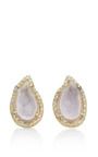 One Of A Kind Light Geode And Diamond Stud Earrings by KIMBERLY MCDONALD for Preorder on Moda Operandi