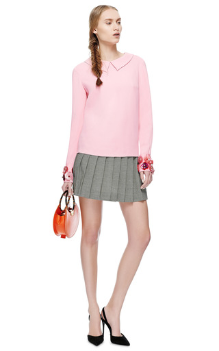 Honor Twiggy Blouse With Embellished Cuffs by HONOR for Preorder on Moda Operandi