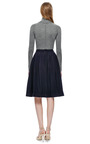 Waldrip Plum Pleated Wool Skirt by WALDRIP for Preorder on Moda Operandi