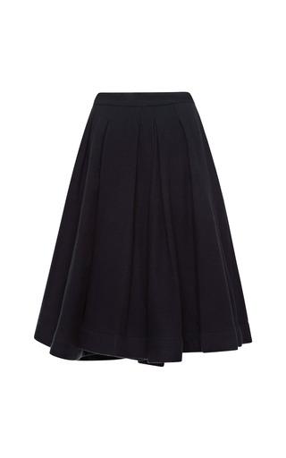 Medium waldrip purple waldrip plum pleated wool skirt