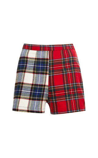 Medium wren plaid wren high waisted short