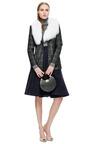 Nonoo Onyx Plaid Jacket With Detachable Fur Collar by MISHA NONOO for Preorder on Moda Operandi