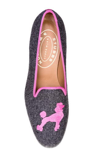 Medium stubbs wootton pink stubbs wootton poodle gray loafer