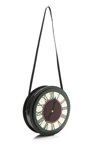 Yaz Bukey Clock Round Bag by YAZBUKEY for Preorder on Moda Operandi