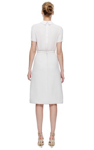 Honor Stretch Twill Skirt With Pleated Silk Underlay by HONOR for Preorder on Moda Operandi