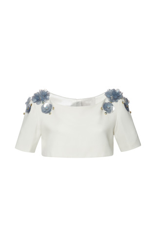Medium honor white honor open back capelet with flowers