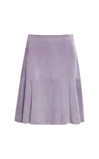 Medium waldrip purple waldrip plum suede skirt