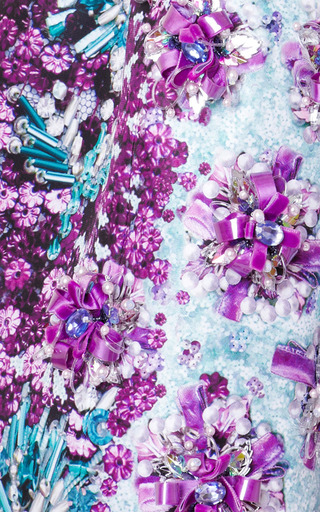 Ponker Embellished Satin Twill Dress by MARY KATRANTZOU Now Available on Moda Operandi