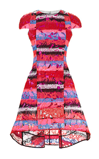 Medium peter pilotto pink leia printed lace dress