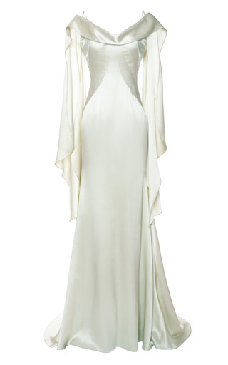 Double Face Satin Gown by ZAC POSEN Now Available on Moda Operandi