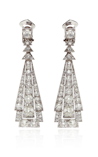 Medium fd gallery metallic chandelier diamond earrings
