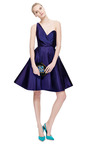 New York Vintage Carolyne Roehm Purple One Shoulder Cocktail Dress by NEW YORK VINTAGE for Preorder on Moda Operandi