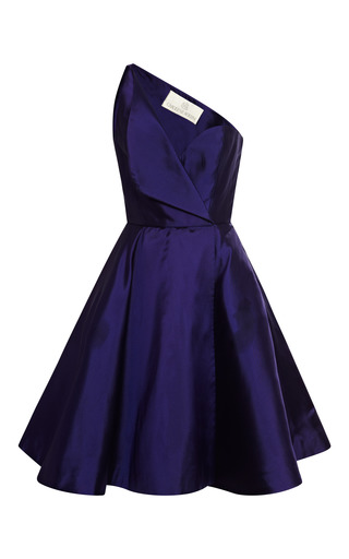 Medium new york vintage purple new york vintage carolyne roehm purple one shoulder cocktail dress