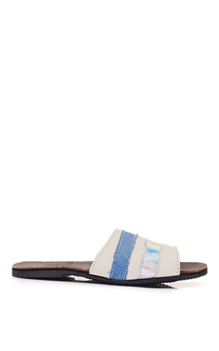 Medium brother vellies white brother vellies cloud slide