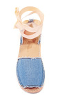 Brother Vellies Denim Ballet Sandal by BROTHER VELLIES for Preorder on Moda Operandi