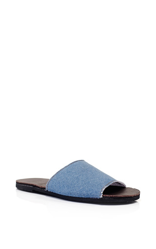 Brother Vellies Denim Slide by BROTHER VELLIES for Preorder on Moda Operandi