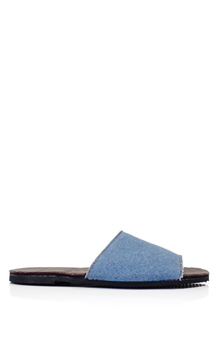 Medium brother vellies blue brother vellies denim slide