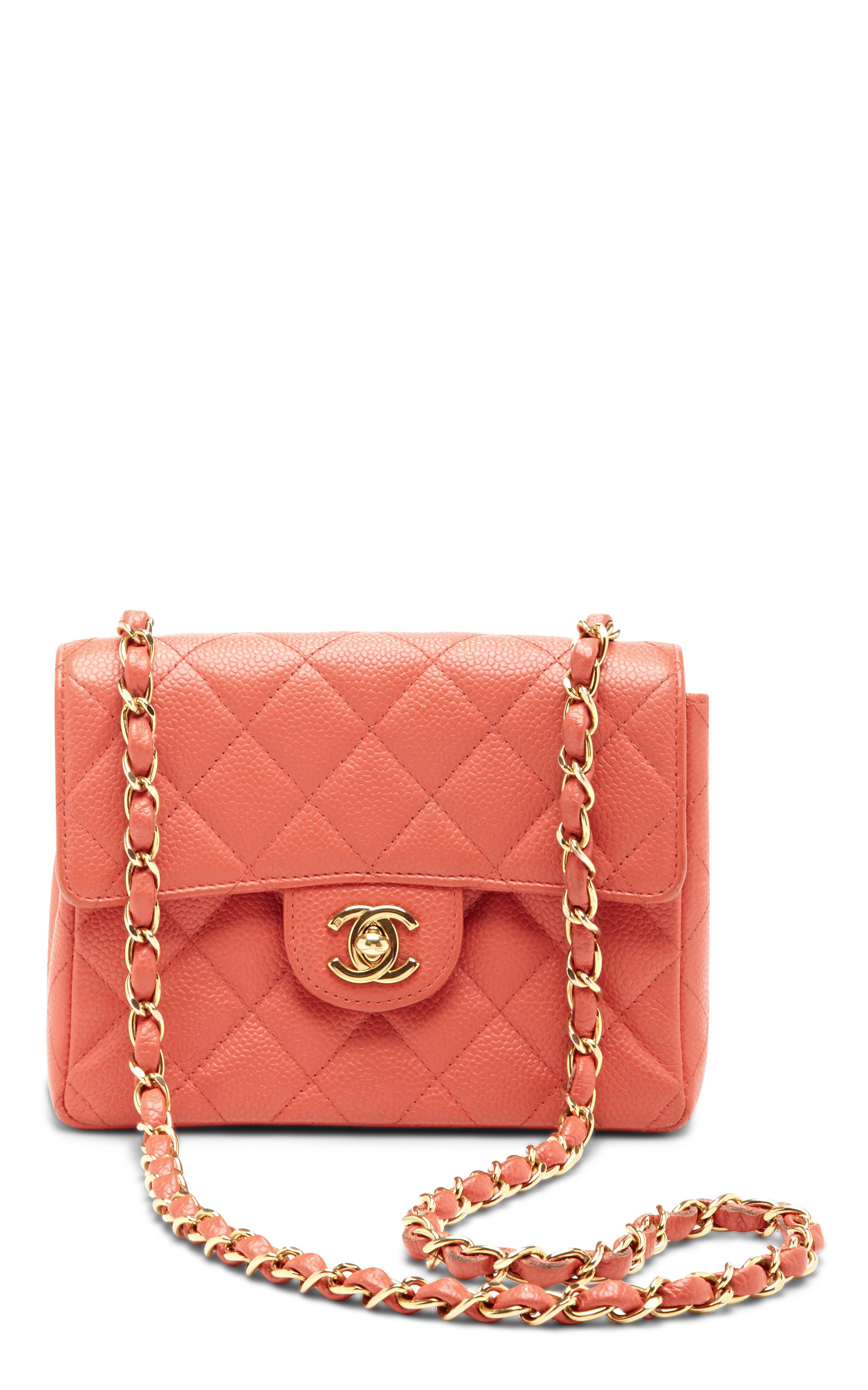 bf53ee8dbf2e What Goes Around Comes AroundVintage Chanel Coral Caviar Leather Bag.  CLOSE. Loading