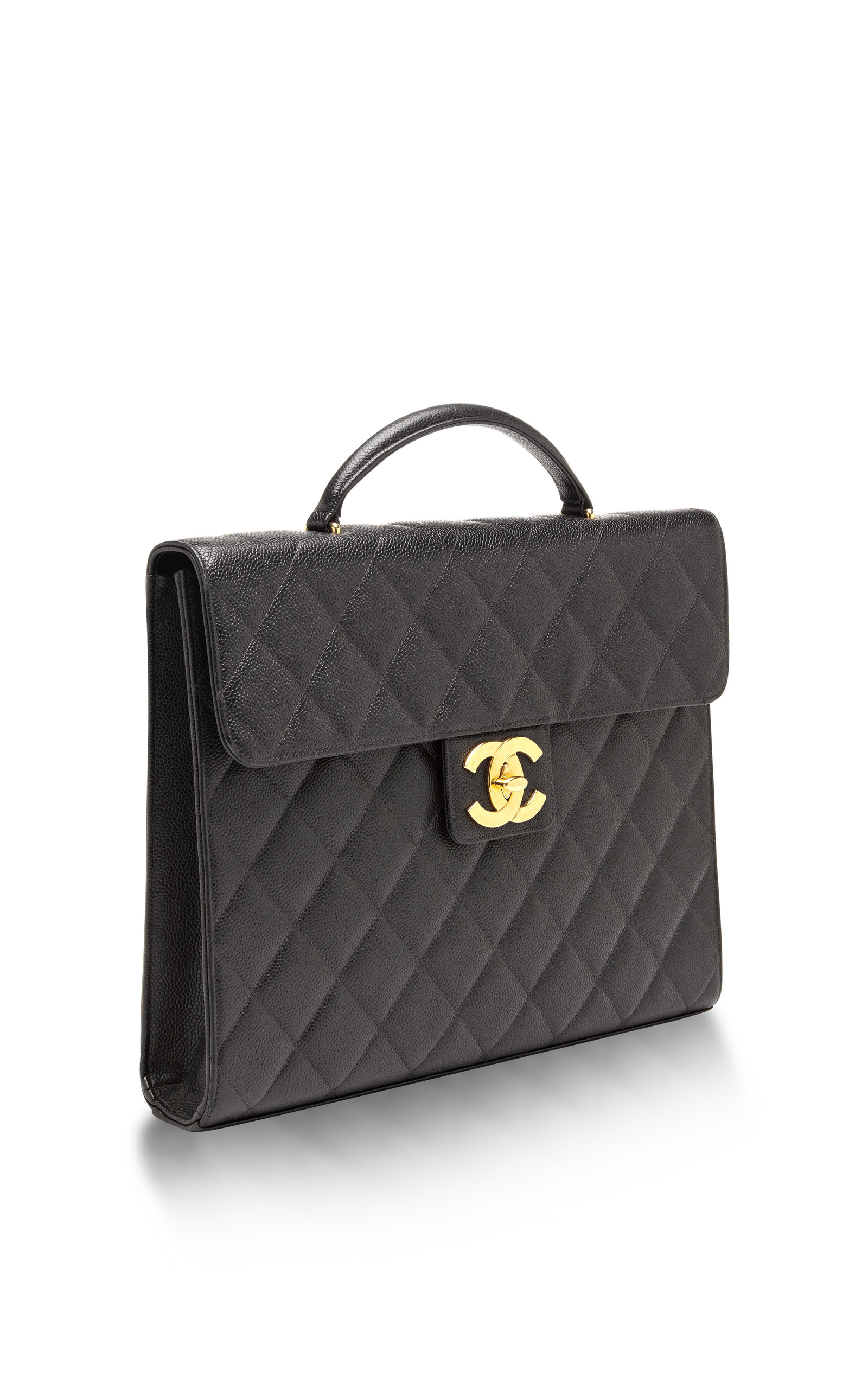 90a608c59f84 What Goes Around Comes AroundVintage Chanel Black Caviar Briefcase. CLOSE.  Loading