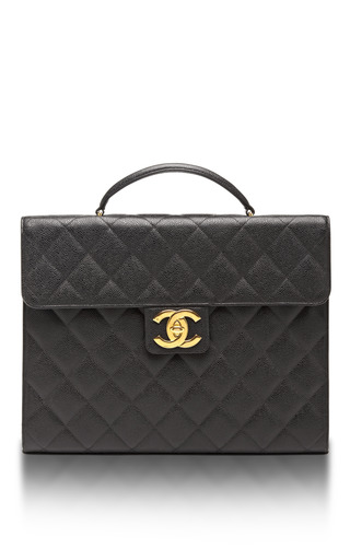 e0f7168e0477 Ended · What Goes Around Comes AroundVintage Chanel Black Caviar Briefcase