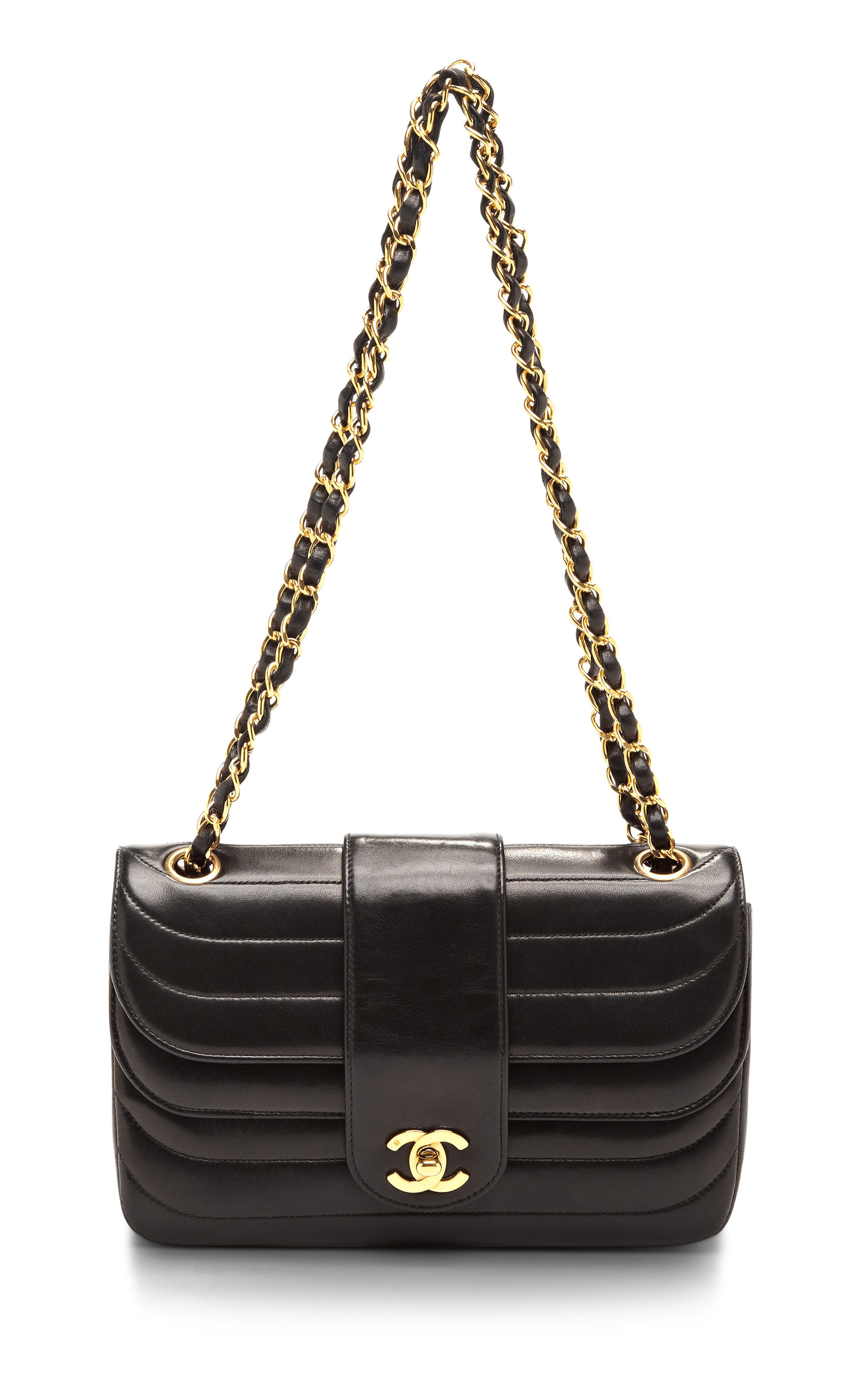 c1caf8d3784d Collectible JacketsVintage Chanel Black Horizontal Stitch Double Flap  Lambskin Bag. CLOSE. Loading. Loading
