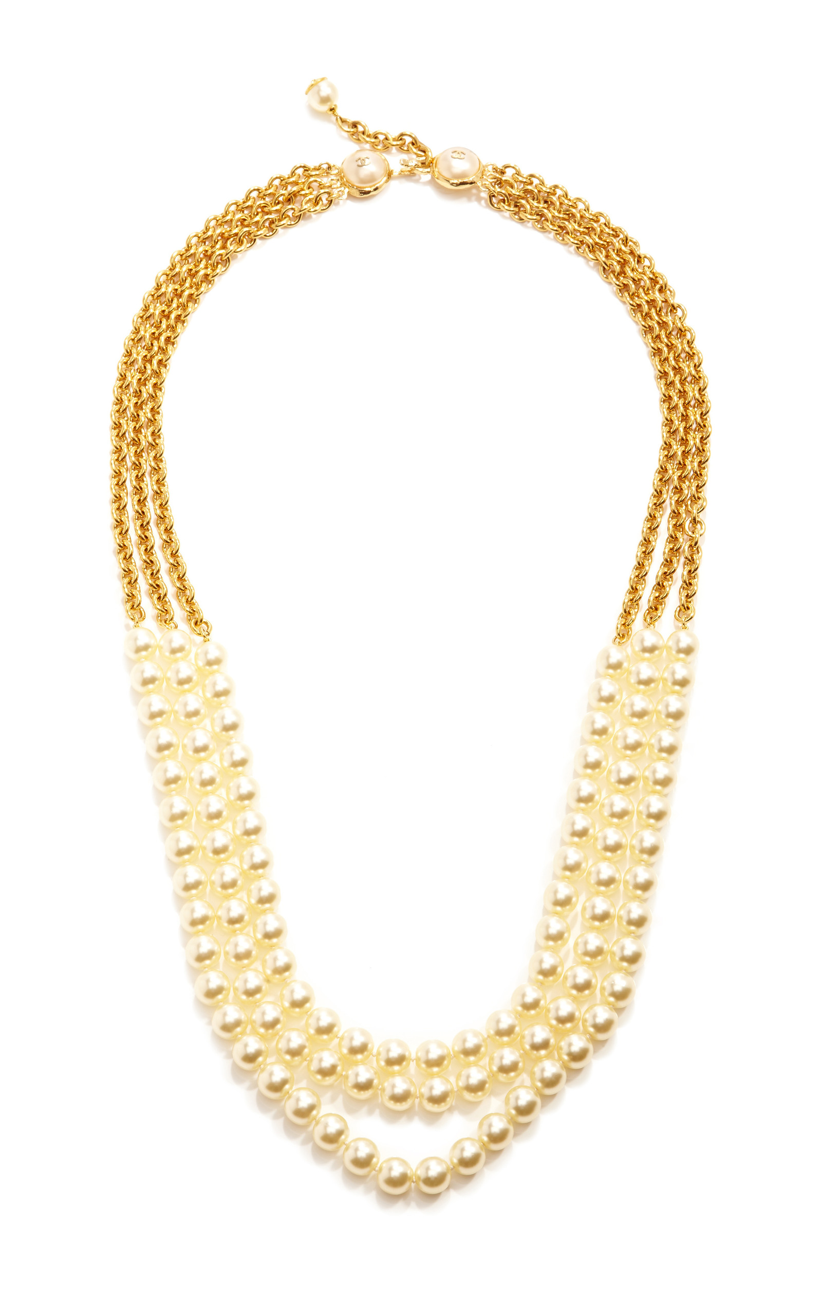 17869e861f38 Vintage Chanel Three Strand Pearl Necklace by Collectible Jackets ...