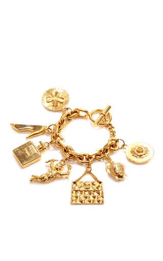 Medium what goes around comes around gold vintage chanel charm bracelet