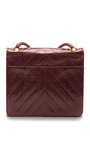 Vintage Chanel Maroon Lizard Bag by WHAT GOES AROUND COMES AROUND for Preorder on Moda Operandi