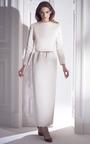 Bridal Blush Column Maxi Skirt by ESME VIE for Preorder on Moda Operandi