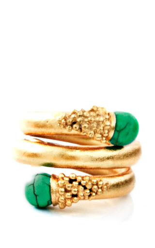 Medium paula mendoza green chloe emerald ring