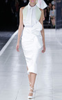 Tie Front Cotton Pencil Skirt by PRABAL GURUNG Now Available on Moda Operandi