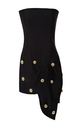 Medium anthony vaccarello black knot bustier dress