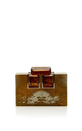 Medium rauwolf gold brutalist plexiglas clutch