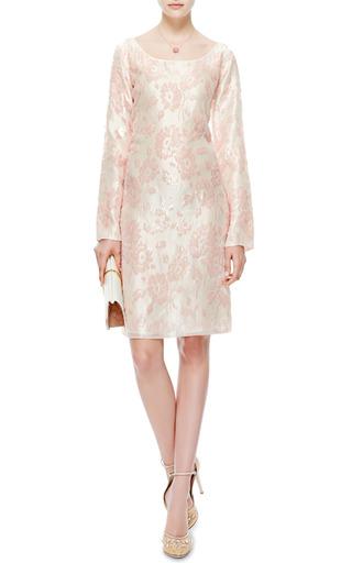 Flocked Velvet Silk Dress by ROCHAS Now Available on Moda Operandi
